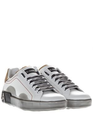SNEAKERS PORTOFINO MELT BIANCHE IN VITELLO PE19 DOLCE & GABBANA | 55 | CS1587AK23689662