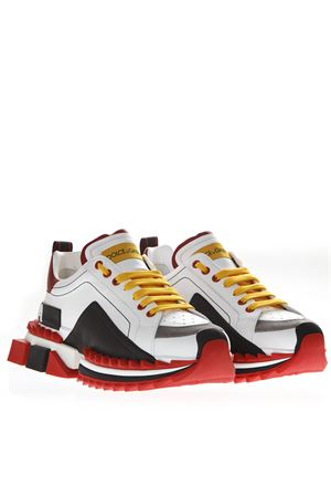 SNEAKERS SUPER KING MULTICOLORE IN PELLE PE19 DOLCE & GABBANA | 55 | CS1649AZ69289926