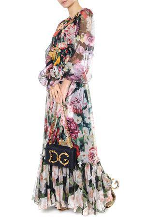 FLORAL PRINT CHIFFON SILK MULTICOLOR FLARED DRESS SS 2019 DOLCE & GABBANA | 32 | F6C4ETGDK88S9311