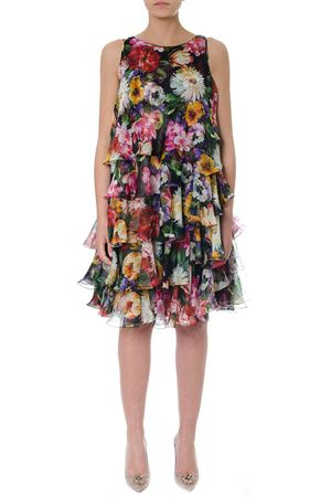 ABITO IN SETA STAMPA FLOREALE PE 2019 DOLCE & GABBANA | 32 | F6D9RTHS13QHNT62