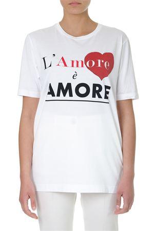 WHITE LOVE IS LOVE COTTON T-SHIRT SS 2019 DOLCE & GABBANA | 15 | F8K27ZG7SJYW0800