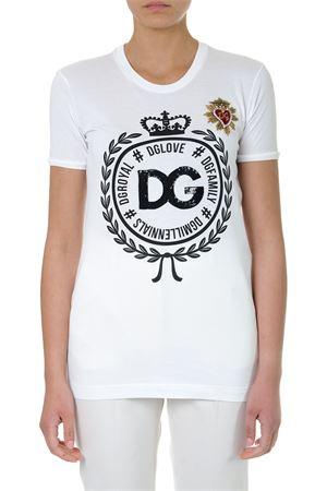 WHITE DG LOVE COTTON T-SHIRT SS19 DOLCE & GABBANA | 15 | F8K74ZG7QXGW0800