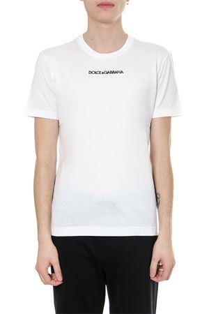 WHITE COTTON LOGO T-SHIRT SS19 DOLCE & GABBANA | 15 | G8JM4ZFU7EQW0800