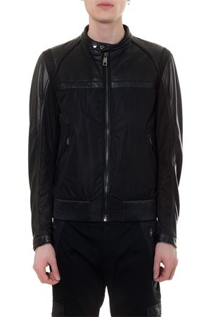 BLACK LEATHER & NYLON BIKER JACKET SS19 DOLCE & GABBANA | 27 | G9NL2LHULCVN0000