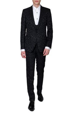 BLACK JACQUARD SILK FLOWER DRESS SS19 DOLCE & GABBANA | 21 | GK0TMTFJRDIN0000