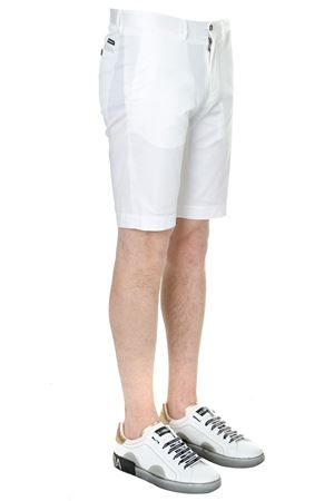WHITE CLASSIC COTTON BERMUDA SHORTS SS19 DOLCE & GABBANA | 110000034 | GY6GMTFUFISW0800