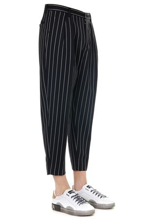 BLACK PINSTRIPE STRETCH WOOL PANTS SS 2019 DOLCE & GABBANA | 8 | GYDCHTFRBCPS8051