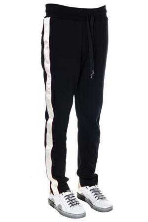 BLACK COTTON SPORT LATERAL BANDED PANTS SS19 DOLCE & GABBANA | 8 | GYGTATHU7BXN0000