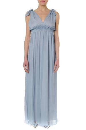 LIGHT BLUE LONG SILK DRESS SS 2019 DONDUP | 32 | A931SF0091XXXUNI858