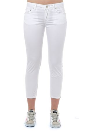 WHITE COTTON CROPPED LENGHT JEANS PE 2019 DONDUP | 4 | DP405RS0986DNEWDIA000
