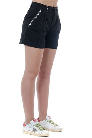 BLACK COTTON STUDS SHORTS SS19 DONDUP | 110000034 | DP421RS0986PTDFREDA999