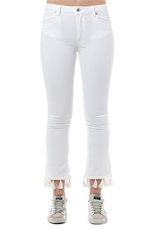 WHITE DOLLIE CROPPED TASSEL ANKLES COTTON JEANS SS 2019 DONDUP | 4 | DP426NBS0009DOLLIE000
