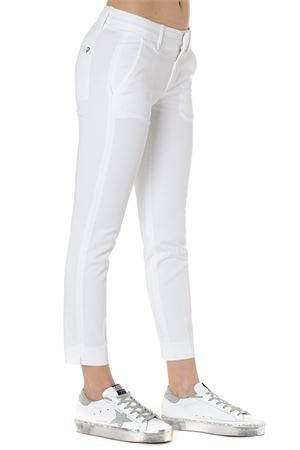 SLIM PANTS IN WHITE COTTON SS 2019 DONDUP | 8 | DP429GS0023PTDROCIO000