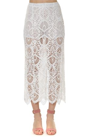 WHITE LACE PENCIL SKIRT SS 2019 DONDUP | 26 | G420ZF0044XXX1000