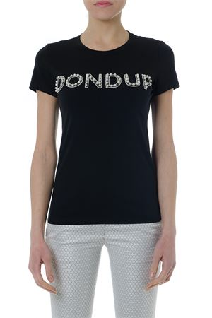 BLACK COTTON T SHIRT WITH EMBROIDERY LOGO SS 2019 DONDUP | 15 | S007JS0212V441999