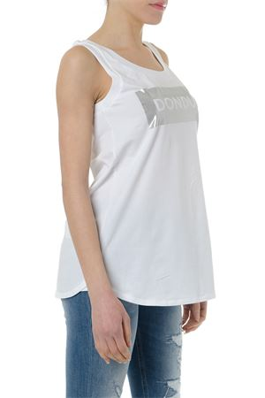 WHITE COTTON TANK TOP WITH LOGO PRINT SS 2019 DONDUP | 13 | S792JS0212V551000