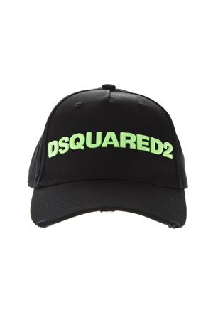 BLACK COTTON BASEBALL LOGO HAT SS2019 DSQUARED2 | 17 | BCM002805C00001M603