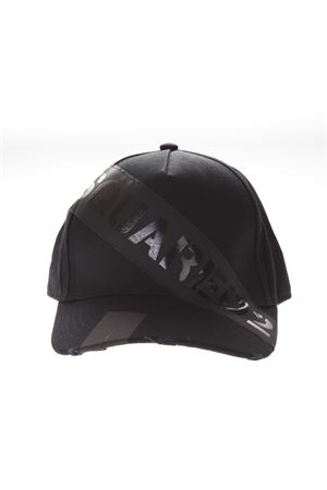 f8b3c1b0302 DSQ2 BLACK COTTON HAT SS19 DSQUARED2