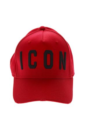 ICON RED COTTON BASEBALL HAT SS19 DSQUARED2 | 17 | BCM400105C00001M090