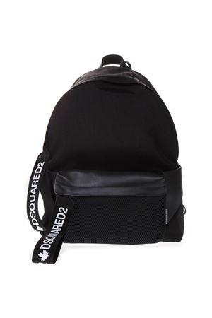 BLACK NYLON AND LEATHER BACKPACK SS 2019 DSQUARED2 | 183 | BPM002111701662M436