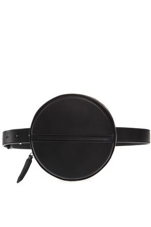 BLACK LEATHER LOGO ROUND BELT BAG SS19 DSQUARED2 | 2 | BYW0004015000012124
