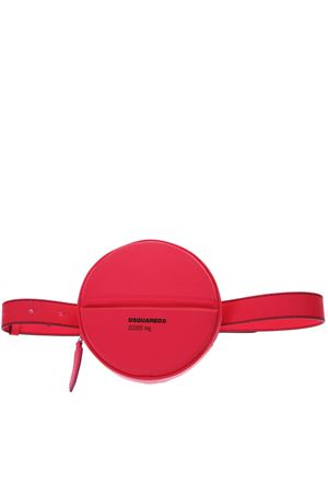 FUCSIA LOGO ROUND BELT BAG IN LEATHER SS 2019 DSQUARED2 | 2 | BYW0004115700019244