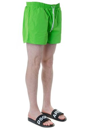 GREEN SWIM SHORTS IN TECHNICAL FABRIC SS 2019 DSQUARED2 | 29 | D7B6424201800