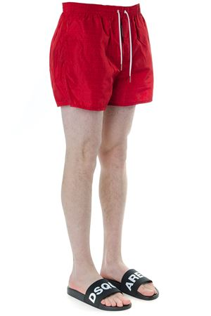 RED LOGO PRINT SWIM SHORTS IN TECHNICAL FABRIC SS 2019 DSQUARED2 | 29 | D7B6424401400