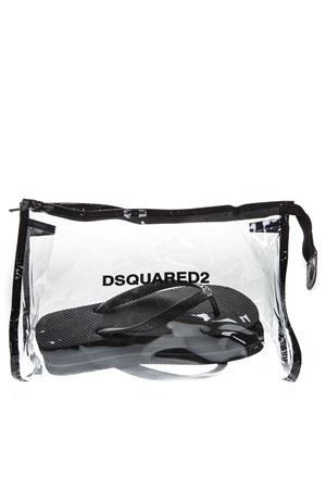 BLACK RUBBER THONG SANDALS WITH EMBOSSED LOGO SS 2019 DSQUARED2 | 87 | FFW0001172000012124