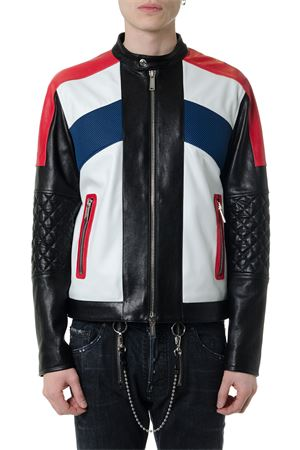 GIACCA BIKER MULTICOLORE IN PELLE PE19 DSQUARED2 | 27 | S71AN0074SY1343961