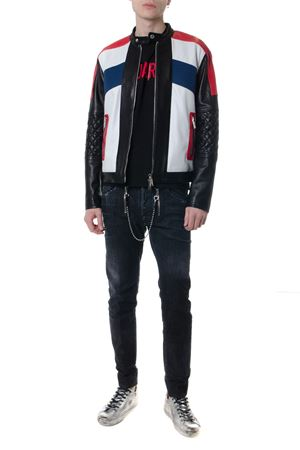 MULTICOLOR CALF LEATHER BIKER JACKET SS19 DSQUARED2 | 27 | S71AN0074SY1343961