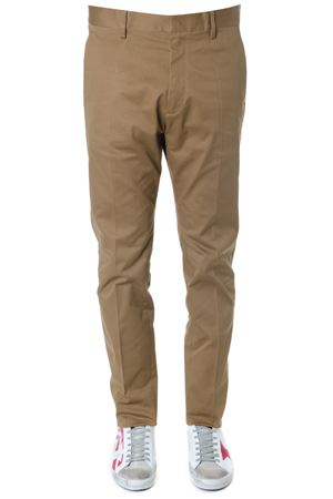 BROWN COTTON TAILORED TROUSERS SS 2019 DSQUARED2 | 8 | S71KB0185S39021132