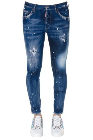 BLUE COTTON TEARED & SPOTS FADED COTTON JEANS SS19 DSQUARED2 | 4 | S71LB0591S30342470
