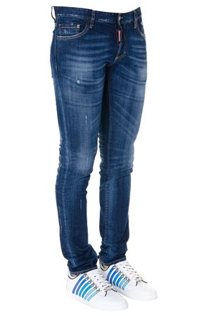 BLUE COTTON FADED JEANS SS19 DSQUARED2   4   S71LB0601S30342470