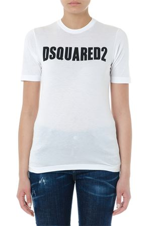 WHITE COTTON LOGO T-SHIRT SS19 DSQUARED2 | 15 | S72GD0147S21600100