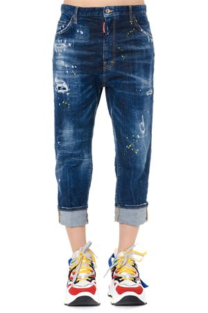 JEANS CROPPED IN DENIM DI COTONE BLU PE 2019 DSQUARED2 | 4 | S72LB0181S30342470