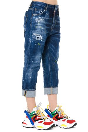 DISTRESSED CROPPED DENIM JEANS DSQUARED2 | 4 | S72LB0181S30342470