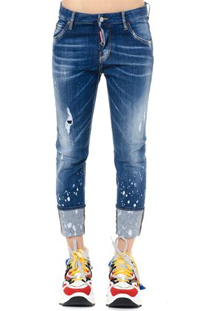 DISTRESSED TURN UP DENIM JEANS SS 2019 DSQUARED2 | 4 | S72LB0186S30342470