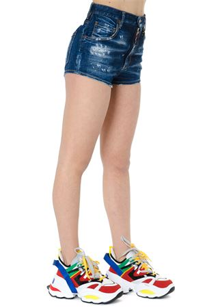 SHORTS COOL GIRL IN DENIM BLU PE 2019 DSQUARED2 | 110000034 | S72MU0282S30342470