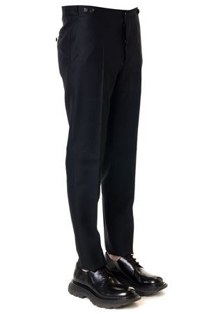 BLACK WOOL-SILK BLEND TROUSERS SS 2019 DSQUARED2 | 8 | S74KB0260S39408900