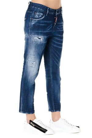 JEANS BOYFRIEND IN DENIM BLU PE 2019 DSQUARED2 | 4 | S75LB0118S30342470