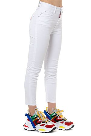 WHITE CROPPED JEANS SS 2019 DSQUARED2 | 4 | S75LB0126S44531100