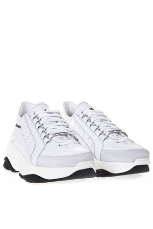 BUMPY 551 SNEAKERS IN WHITE LEATHER SS 2019 DSQUARED2   55   SNM004706500001M1216