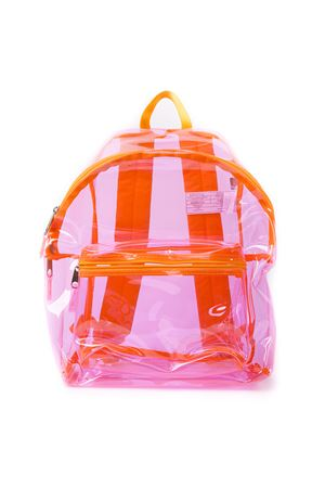 TRANSPARENT PINK PLASTIC BACKPACK SS 19 EASTPAK LAB | 183 | EK62076Z11