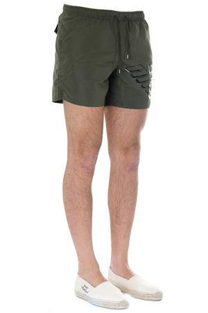 MILITARY GREEN ICONIC EAGLE LOGO BOXER SHORTS SS19 EMPORIO ARMANI | 29 | 2117409P42701781