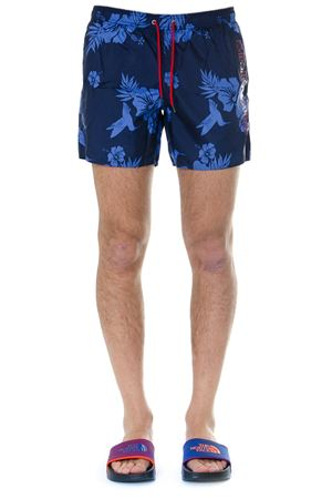 BLUE TEXTILE FLOWER PRINT SHORTS WITH LOGO SS19 EMPORIO ARMANI | 29 | 2117409P43716635