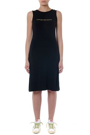 BLACK VISCOSE DRESS WITH LOGO SS 2019 EMPORIO ARMANI | 21 | 2625049P31500020