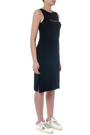 BLACK VISCOSE DRESS WITH LOGO SS 2019 EMPORIO ARMANI   21   2625049P31500020