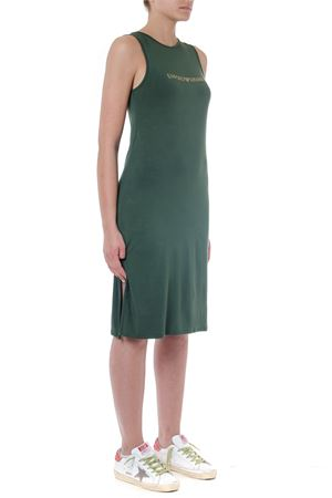 MILITARY GREEN VISCOSE DRESS WITH LOGO SS 2019 EMPORIO ARMANI | 32 | 2625049P31500084