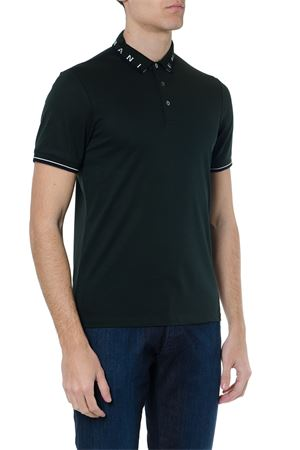 GREEN COTTON LOGOED COLLAR POLO SHIRT SS 2019 EMPORIO ARMANI | 11 | 3G1FL31JBQZ0537